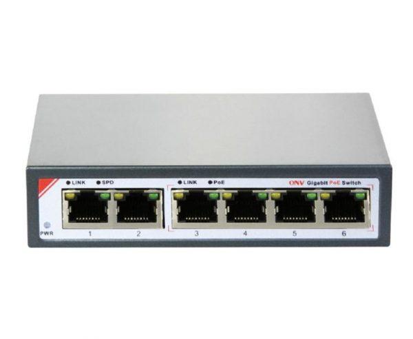 4 Port POE Switch ONV POE 33064P